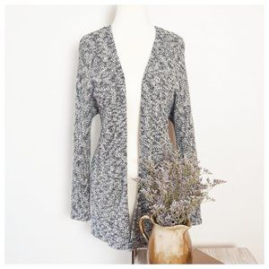 American Eagle Gray Marled Knit Open Fron Cardigan
